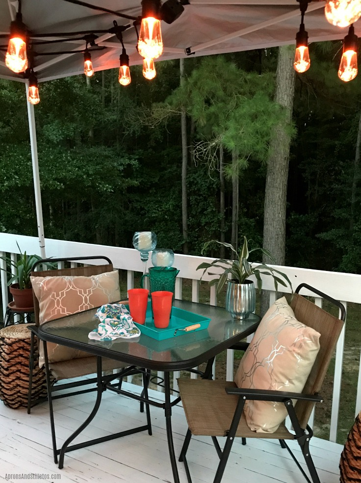 DIY Outdoor Entertaining Deck Update