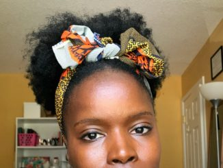 How to create a High Puff with Tribal Headband
